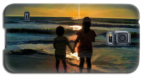 Beach Kids Galaxy S5 Case by Margie Chapman