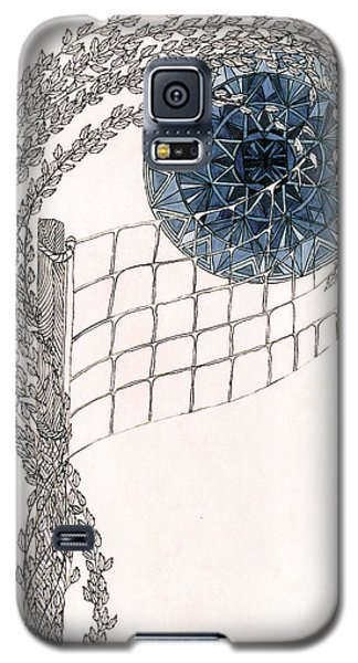 Galaxy S5 Case featuring the drawing Beach Volleyball by Dianne Levy
