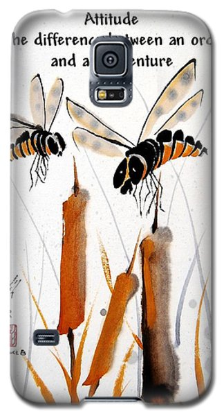 Galaxy S5 Case featuring the painting Beeing Present by Bill Searle