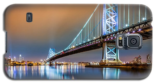 Ben Franklin Bridge And Philadelphia Skyline By Night Galaxy S5 Case