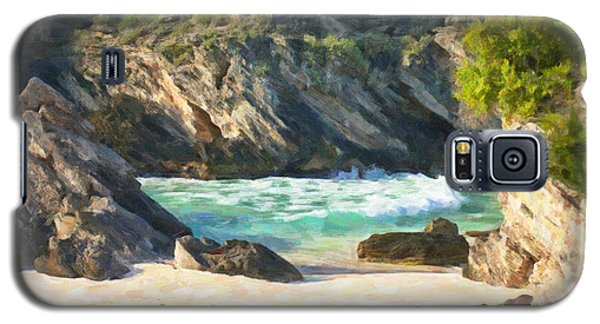 Galaxy S5 Case featuring the photograph Bermuda Hidden Beach by Verena Matthew
