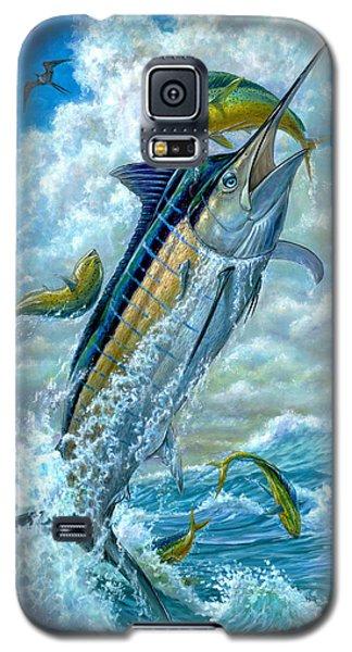 Big Jump Blue Marlin With Mahi Mahi Galaxy S5 Case