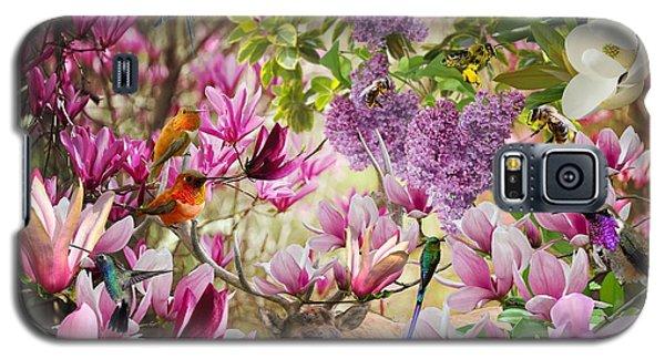 Magnolia Galaxy S5 Case - Birds In Magnolia by Moni Norng