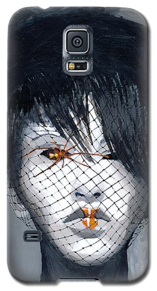 Galaxy S5 Case featuring the painting Black Widow by Denise Deiloh