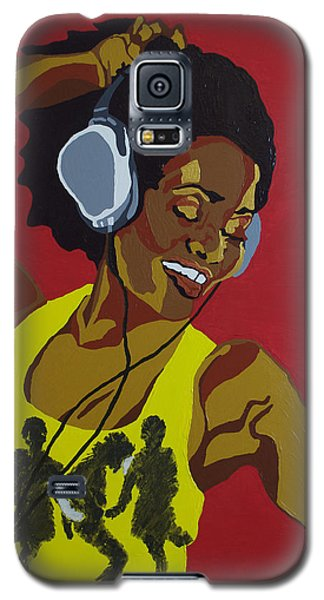 Galaxy S5 Case featuring the painting Blame It On The Boogie by Rachel Natalie Rawlins