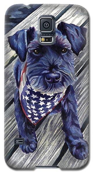 Black Dog On Pier Galaxy S5 Case