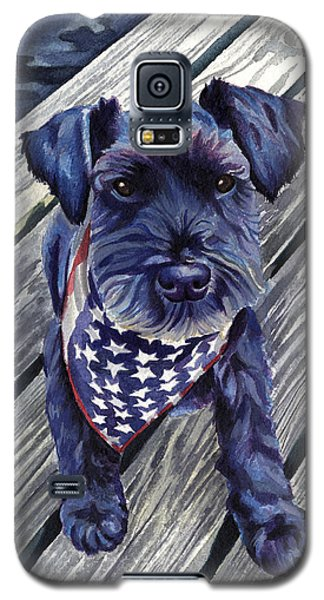 Black Dog On Pier Galaxy S5 Case