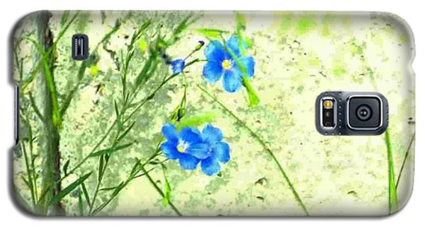 Galaxy S5 Case featuring the photograph Blue Flower by Michael Dohnalek