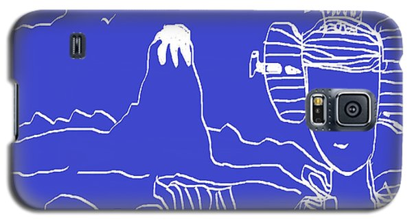 Galaxy S5 Case featuring the painting Blue Geisha by Don Koester