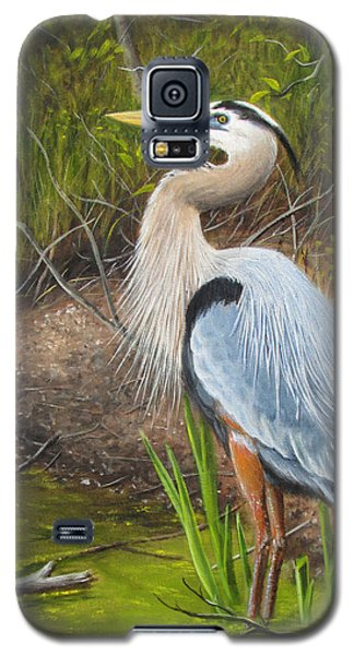 Blue Heron Galaxy S5 Case