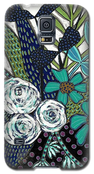 Galaxy S5 Case featuring the painting Blue by Lisa Noneman