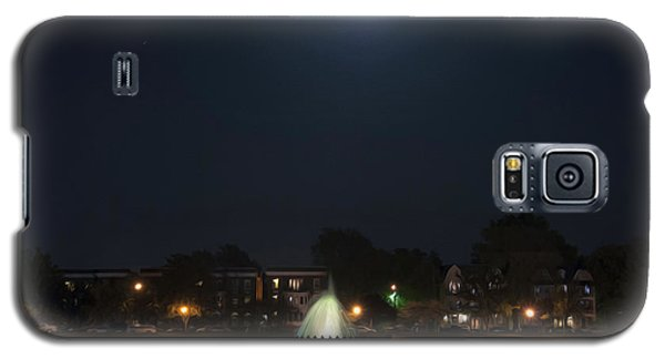 Galaxy S5 Case featuring the digital art Blue Moon Over Fountain Lake by Kelvin Booker