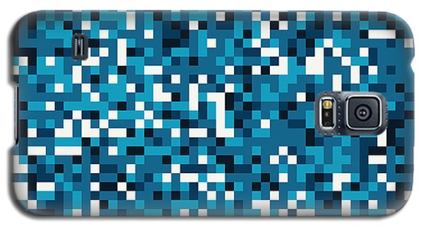 Galaxy S5 Case featuring the digital art Blue Pixel Art by Mike Taylor