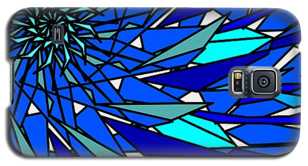Galaxy S5 Case featuring the digital art Blue Sun by Elizabeth McTaggart