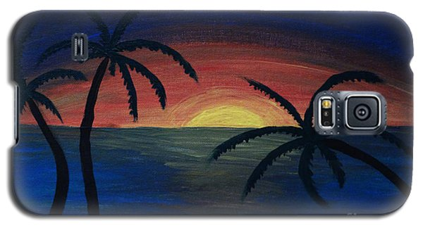 Galaxy S5 Case featuring the painting Blue Tides by Arlene Sundby