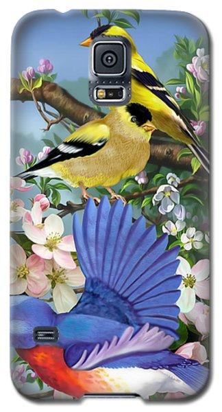 Bluebird And Goldfinch Galaxy S5 Case