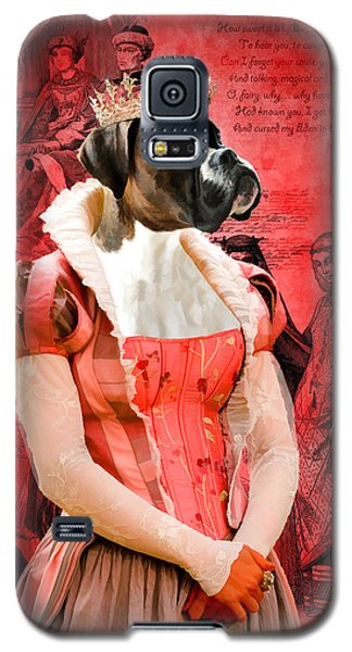 Boxer Art Canvas Print Galaxy S5 Case