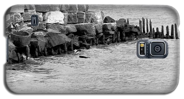 Galaxy S5 Case featuring the photograph Breakwater by Ricky L Jones