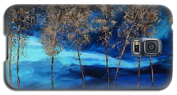 Galaxy S5 Case featuring the painting Brewing Storm by Linda Bailey