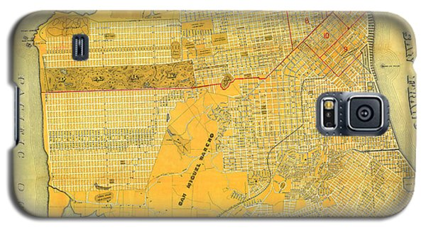Britton And Reys Guide Map Of The City Of San Francisco. 1887. Galaxy S5 Case