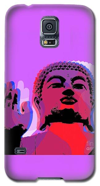 Galaxy S5 Case featuring the digital art Buddha Pop Art - Warhol Style by Jean luc Comperat