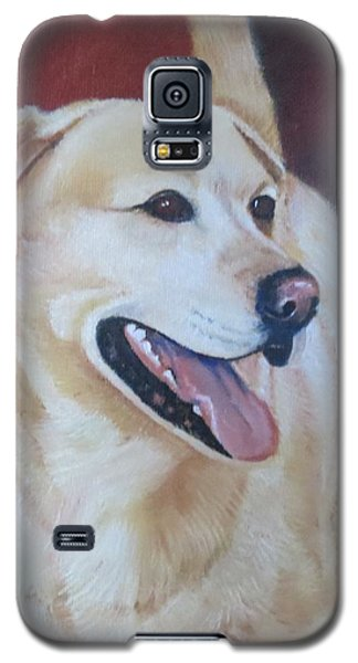 Galaxy S5 Case featuring the painting Buddy by Sharon Schultz