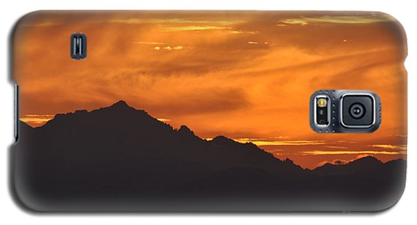 Galaxy S5 Case featuring the photograph Burning Sky by Simona Ghidini