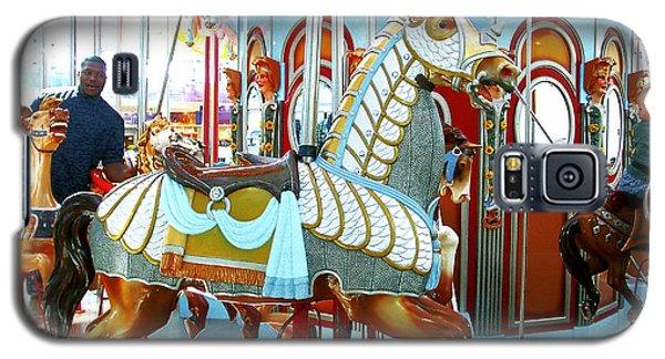 Galaxy S5 Case featuring the photograph Carousel Horse by Merton Allen