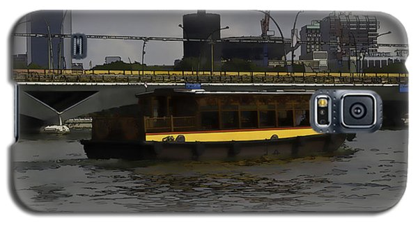 Cartoon - Colorful River Cruise Boat In Singapore Galaxy S5 Case