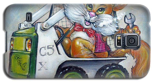 Cat C5x 190312 Galaxy S5 Case by Selena Boron