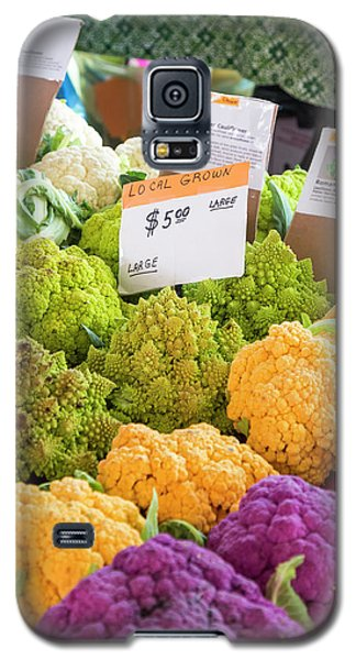 Cauliflower Market Stall Galaxy S5 Case by Jim West