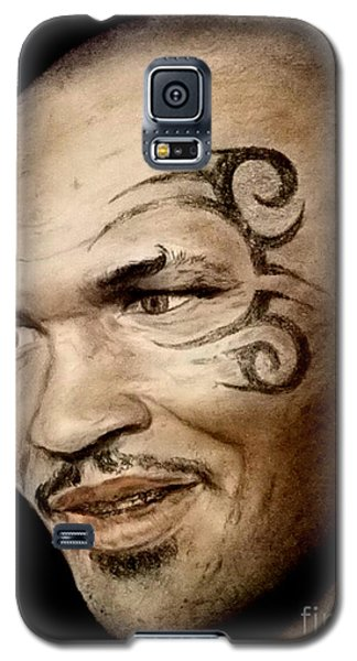Galaxy S5 Case featuring the drawing Champion Boxer And Actor Mike Tyson by Jim Fitzpatrick