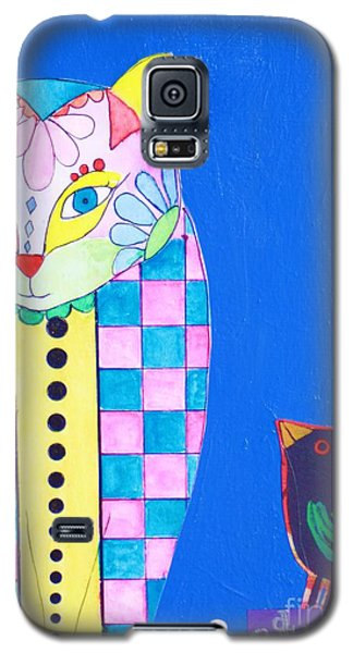 Checkered Cat Galaxy S5 Case