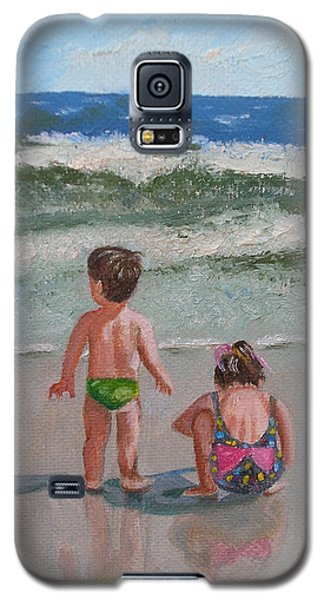 Children On The Beach Galaxy S5 Case