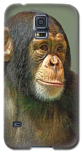 Chimp Portrait Galaxy S5 Case