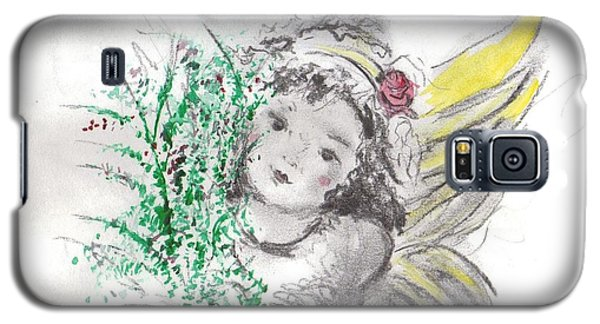 Galaxy S5 Case featuring the mixed media Christmas Angel by Laurie L