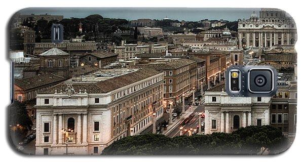 Cityscape In Rome Galaxy S5 Case