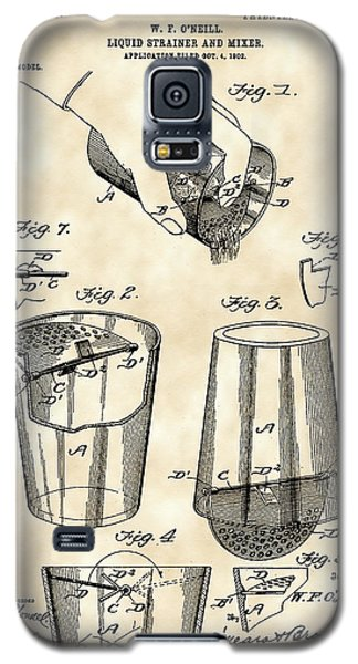Cocktail Mixer And Strainer Patent 1902 - Vintage Galaxy S5 Case by Stephen Younts