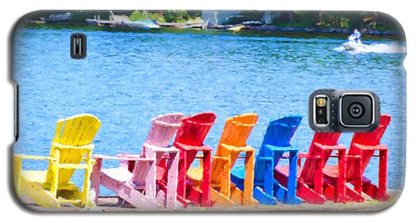 Colorful Chairs Galaxy S5 Case by Les Palenik