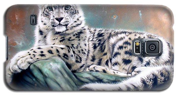 Copper Snow Leopard Galaxy S5 Case