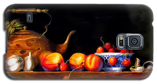 Galaxy S5 Case featuring the painting Cornucopia 2 by Barry Williamson