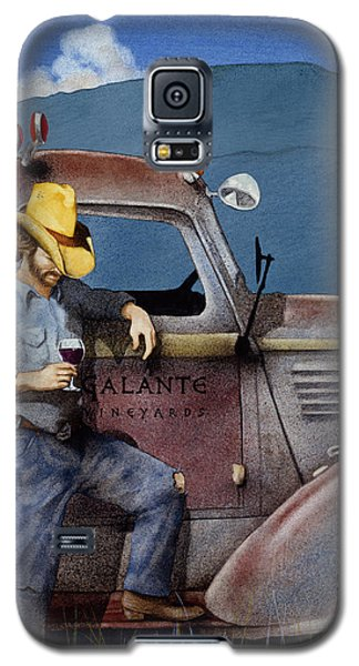 Galaxy S5 Case featuring the painting Cowboys And Cabernet... by Will Bullas