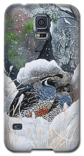Galaxy S5 Case featuring the painting Cozy Couple by Jennifer Lake