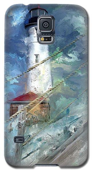 Crisp Point Lighthouse Michigan Galaxy S5 Case