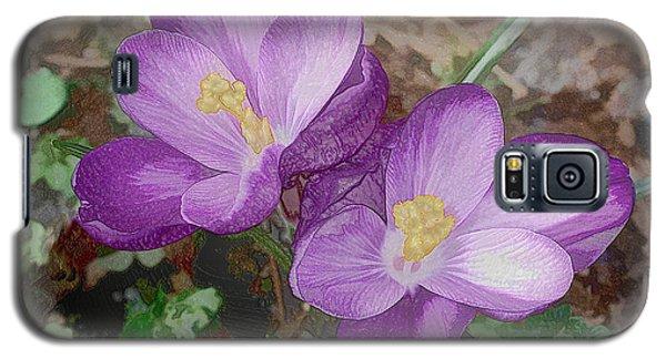 Crocus  Galaxy S5 Case by Bonnie Willis