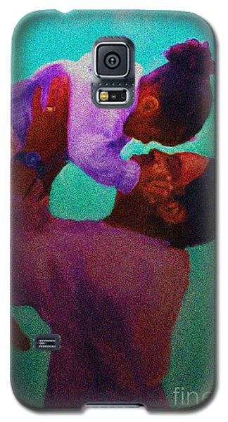 Galaxy S5 Case featuring the painting Daddys' Little Girl by Vannetta Ferguson