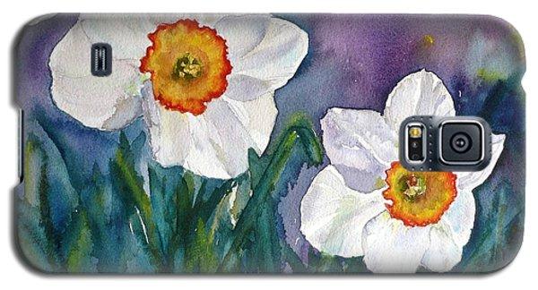Galaxy S5 Case featuring the painting Daffodil Dream by Anna Ruzsan