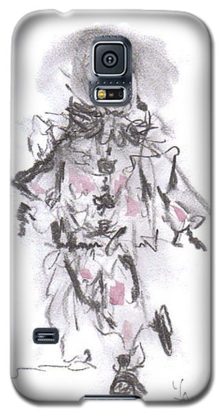 Galaxy S5 Case featuring the mixed media Dancing Clown by Laurie L
