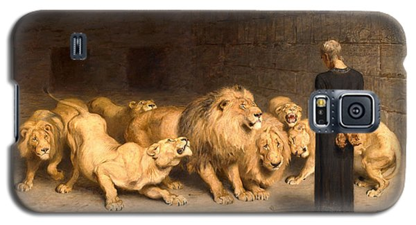 Dungeon Galaxy S5 Case - Daniel In The Lions' Den by Briton Riviere