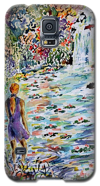 Galaxy S5 Case featuring the painting Daughter Of The River by Alfred Motzer